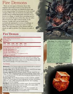 Dark Souls 3 style Fire Demon (and Fire Gem) Dungeons And Dragons 5e, Dungeons And Dragons Homebrew, Types Of Demons, Dnd Stats, Fire Demon, Dnd 5e Homebrew, Dragon Rpg, Dark Souls 3, Monster Characters