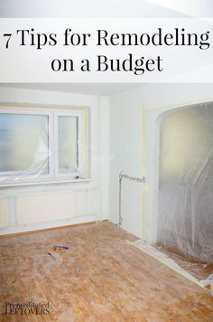 Are you thinking of remodeling a room in your home?  Check out these 7 tips for remodeling on a budget. These frugal ideas can help you improve your home while saving money!