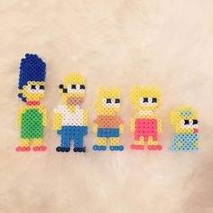 The Simpsons perler beads by beadaholics                                                                                                                                                                                 More