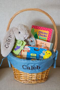 Non candy easter basket ideas for toddlers easter baskets easter basket for 2 year old books stuffed animal thomas and friends toy negle Images