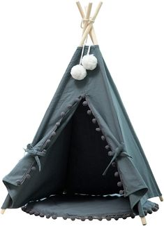 (This is an affiliate pin) Samincom Pet Cat Dog Teepee with Cushion, 4-Sided House Indian Tents, Wood Canvas Tipi Fold Away Pet Tent Small Animals Bed Teepee Tent, Tents, Cat Tent, Wood Canvas, Outdoor Dog, Pet Beds, Dog Houses, Small Animals
