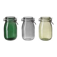 IKEA - HEMSMAK, Jar with lid, The jar has an airtight seal, which makes it perfect for preserving your favorite homemade jams and jellies.The airtight seal helps food retain its flavor and aroma longer.