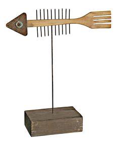 Saatchi Art: fish bone Sculpture by Oriol Cabrero Metal Sculpture Artists, Steel Sculpture, Sculptures, Metal Welding, Welding Art, Wood Fish, Found Object Art, Scrap Metal Art, How To Make Paint