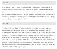 Love this analysis Even if you aren't a fan of the Harry Potter books, the Hogwarts 'House Model' is really useful for developing characters
