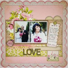Pretty page for a wedding scrapbook