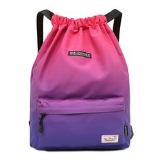Waterproof Gym Bag Women Girls Sports Bag Travel Drawstring Bag Outdoor Bag Backpack for Training Swimming Fitness Bags Softback. Gym Backpack, Jansport Backpack, Drawstring Backpack, Travel Backpack, Bag Sewing, Bag Women, Bucket Bag, Outdoor Backpacks, Waterproof Backpack