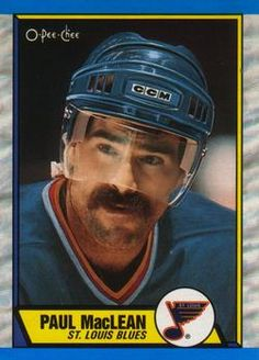 1989-90 O-Pee-Chee #129 Paul MacLean Hockey Cards, National Hockey League, Trading Cards, Nhl, Blues, Picture Cards, Collector Cards
