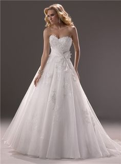 Princess Ball Gown Wedding Dresses | Princess Ball Gown Sweetheart Organza Lace Wedding Dress Corset Back