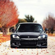 Sleek Black Honda S2000
