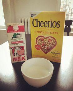 Perfect breakfast cow #cheerios #happycow #nybreakfast