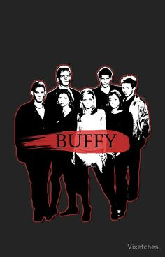 BTVS CAST (S3): The Scoobies! by Vixetches Framed Prints, Canvas Prints, Art Prints, Buffy The Vampire Slayer, Vampires, Glossier Stickers, Iphone 11, Classic T Shirts, It Cast