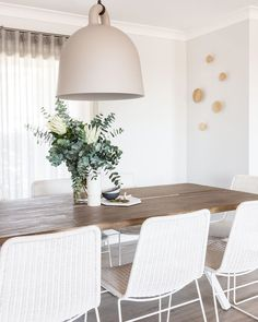 75 How To Bring Back The Classic And Relaxe Style Of Dining Room Design 8 - dougryanhomes Küchen Design, House Design, Farmhouse Table Chairs, Dining Chairs, Room Chairs, Dining Room Inspiration, Painted Chairs, Interior Exterior, Dining Room Design