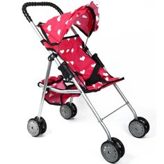 For the granddaughters' birdthday! The New York Doll Collection My First Doll Stroller - Hearts