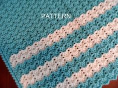 Baby Afghan Crochet Pattern, PETITE RIPPLE, Baby Blanket Pattern