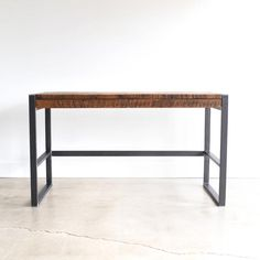 Rustic Office Desk / Industrial Patchwork Desk made from Reclaimed Wood Reclaimed Wood Desk, Old Wood, Rustic Office Desk, Industrial Desk, Desk With Drawers, Work Surface, Entryway Tables, Hardwood, Furniture