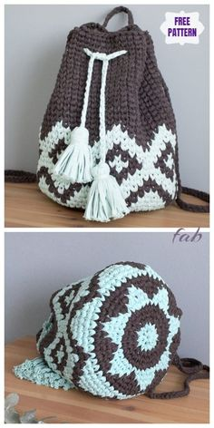 Most up-to-date Totally Free boho Crochet Patterns Thoughts Crochet Mochila Boho Backpack Free Crochet Pattern – Video Crochet Backpack Pattern, Bag Pattern Free, Crochet Handbags, Crochet Purses, Boho Crochet Patterns, Knitting Patterns, Mochila Crochet, Knitted Bags, Booties Crochet
