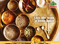 Spices that make Thali special. Gujarati Thali, Tasty, Yummy Food, Live Life, Spices, Make It Yourself, Spice, Delicious Food, Quote Life