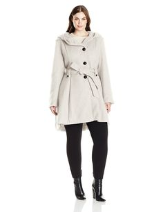 Steve Madden Women's Plus Size Single Breasted Wool Blend Coat *** Additional details at the pin image, click it  : Plus size coats
