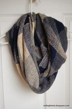 Stitch Fix #8 - Rebecca Plaid Knit Infinity Scarf by 41Hawthorn