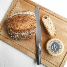 Some days you want a simple start seeded sourdough from @thesnapery & @butterculture butter - filled up at the weekend before starting Dr Gerald Mullins #guthealth protocol. This bread is exactly how bread should be - great crust inner texture slowly proved. And the butter - possibly the best butter I have ever tasted! Would rather have small amounts of great butter with its beneficial fatty acids than processed fats or spreads. Both available @druidstmarket on Saturdays! #londonmarkets…