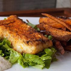 www.sizzlefish.com  There is nothing better than homemade SizzleFish Fish 'n Chips in the summer time! @5280Meat  has the perfect recipe too!  _  We fried up a piece of @sizzlefishfit cod in @omgheebutter seasoned with @flavorgod Cajun Seasoning & then fried sliced sweet pot