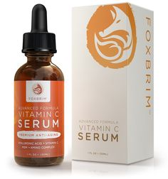 Foxbrim Vitamin C Serum for Face, 1 fl oz. - BEST Anti-Aging Serum - Vegan Hyaluronic Acid and Amino Complex - Premium Face Serum for Beautiful Skin - Natural and Organic - Perfect for All Skin Types - Lasting Results with Amazing Guarantee ** Want additional info? Click on the image.