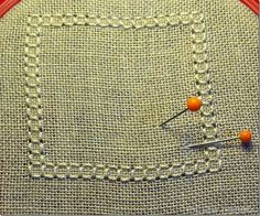 THE SEW THERAPY: PUNTO ANTICO - TUTORIAL 2 Drawn Thread, Needle Lace, Bargello, Lana, Eminem, Diy Crafts, Embroidery, Stitch, Sewing