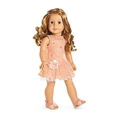 American Girl® Clothing: Shimmer & Lace Party Dress for Dolls