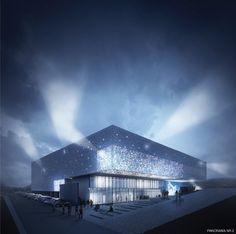 Zdjęcie numer 1 w galerii - Rozświetlona elewacja i widownia na 1000 widzów. Nowa hala sportowa dla Lublina [WIZUALIZACJE]