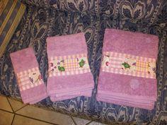 Asciugamani inserto patchwork.