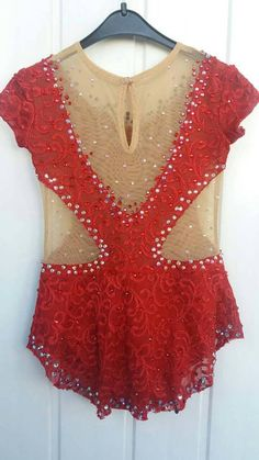 Beautiful leotard for rhythmic gymnastic.