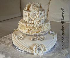 La buona cucina di Katty: Silver Wedding Cake - Torta nozze d'argento