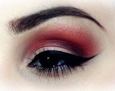 Red eyeshadow. Why not? https://www.makeupbee.com/look.php?look_id=87345