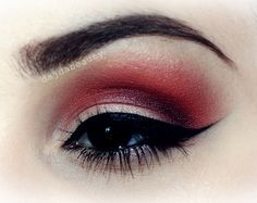 Red eyeshadow. Why not? https://www.makeupbee.com/look.php?look_id=87345