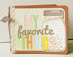 Adorable mini Scrapbook. I think I might make one of these for graduation.