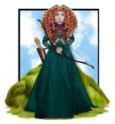 """Merida"" by mandy-ruth ❤ liked on Polyvore featuring art"