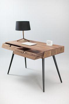 Solid Walnut wood desk on Behance