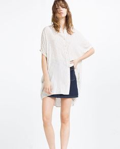 ZARA - WOMAN - STRIPED TUNIC WITH LACE