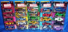 Maistro Die Cast MARVEL Comic Book Hero Cars Complete series of 5  2002 #Maisto #Various