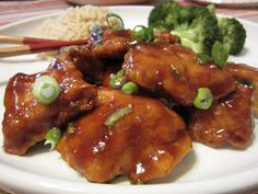 Pie Birds, Buttons and Muddy Puddles: Lighten Up - General Tso's Chicken
