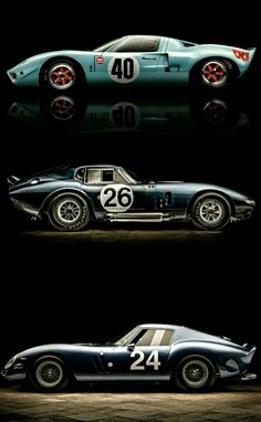 Icons: Ford GT40 , Shelby Daytona Coupe & Ferrari GTO