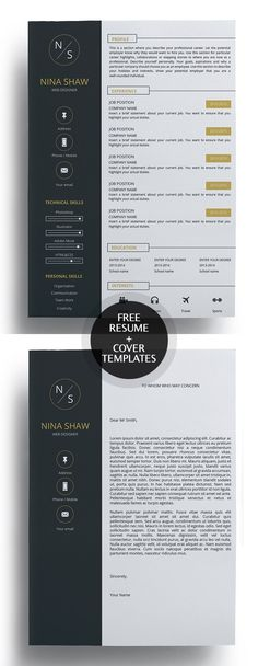 50 Free Resume Templates: Best Of 2018 - 10 Creative Cover Letter, Cover Letter Tips, Free Cover Letter, Cover Letter Design, Cover Letters, Letter Designs, Resume Cover Letter Template, Resume Design Template, Creative Resume Templates
