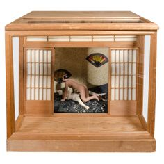 A Japanese Erotic or Shunga Ningyo Light Box from the Meiji Period | From a unique collection of antique and modern sculptures and carvings at http://www.1stdibs.com/furniture/asian-art-furniture/sculptures-carvings/