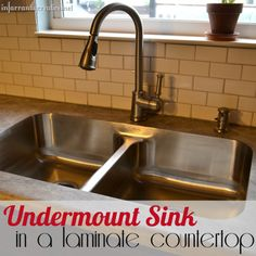 61 Best Undermount Sinks and Formica® Laminate images | New kitchen Undermount Kitchen Sink With Laminate on farmhouse sink with laminate, kitchen ideas with laminate, kitchen backsplash with laminate, undermount sink with formica counters, undermount sink laminate top, drop in sink with laminate,
