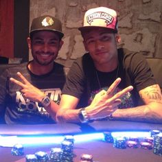 - Pokerabend ♠️♥️♣️♦️ Neymar & Friend  ・・・   All in no claro e no escuro ' Neymar Jr, Poker, Fc B, Football, My Hero, Captain Hat, Instagram Posts, Idol, Photos
