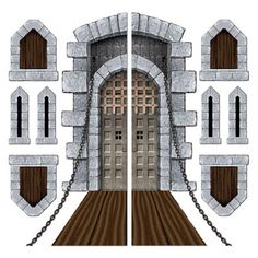this web site has medieval decorations