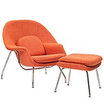 W Fabric Lounge Chair W Fabric Lounge Chair in Orange Tweed