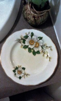 Duchess Bone China - White Magnolia Pattern 343 Bread and Butter Plate by OldVintageTreasures2 on Etsy