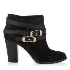 f8e94ab8b79f Women Jimmy Choo Melba Black Suede And Nappa Ankle Boots