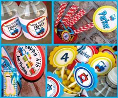 Train  Birthday Party Package  Personalized and by HandmadePartyCo, $137.50